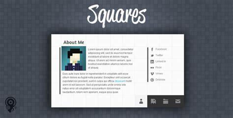 html vcard template squares html5 vcard portfolio template by joelbesada