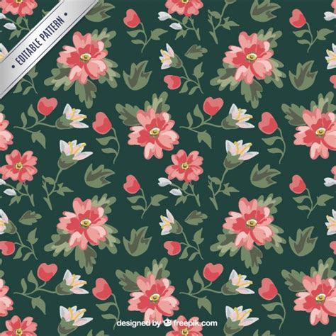 flower pattern vintage free download vintage floral pattern vector free download