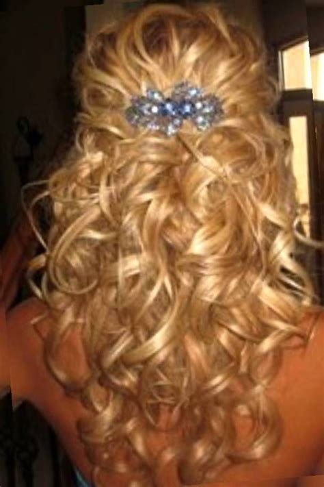 Wedding Hairstyles Curly Medium Length Hair by Half Up Half Curly Hairstyles Medium Length Hair