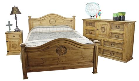 rustic bedroom set mexican pine furniture texas star rustic pine bedroom set