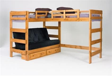 l shaped loft beds heartland l shaped futon loft bed home sweet home