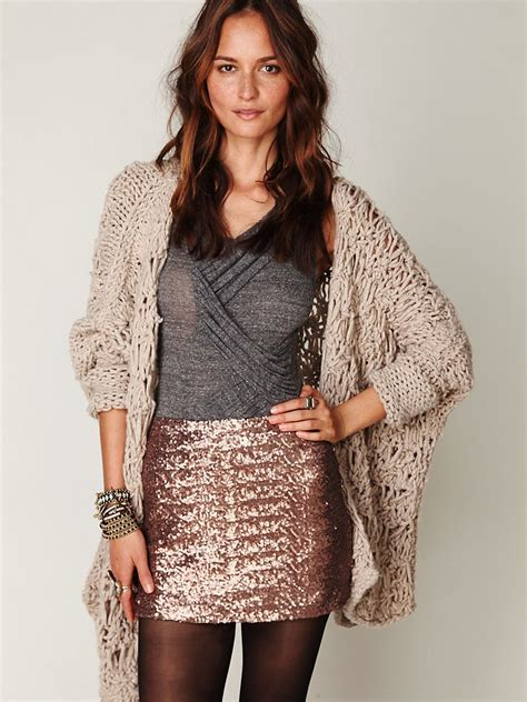 free people sequin skirt lyst free fever sequin bodycon skirt in brown