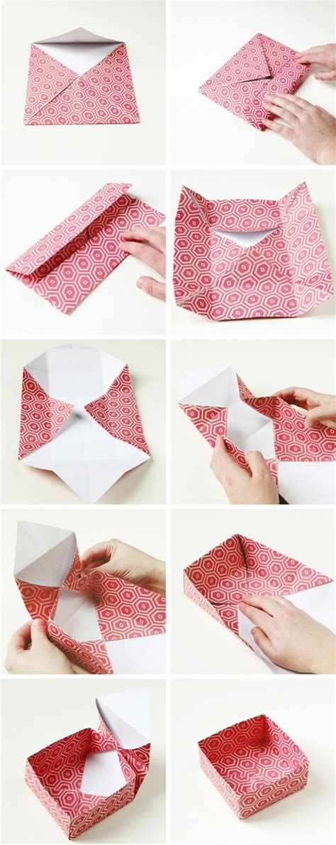 Origami Birthday Box - diy origami gift boxes gathering