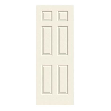 home depot interior slab doors jeld wen 28 in x 80 in colonist vanilla painted textured molded composite mdf interior door