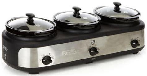 ge 3 crock cooker buffet steamer