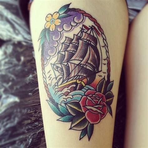new school ship tattoo 99 attractive sexy leg tattoo designs for girls
