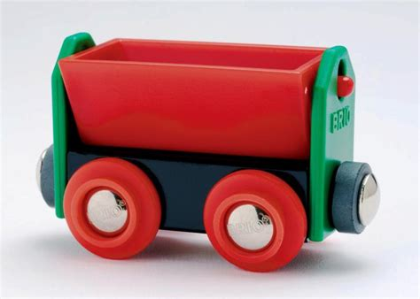 brio red brio red tipping wagon 33614 table mountain toys