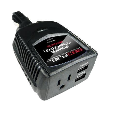 Car Power Port Schumacher Battery Extender 140 Watt Dual Usb Port With