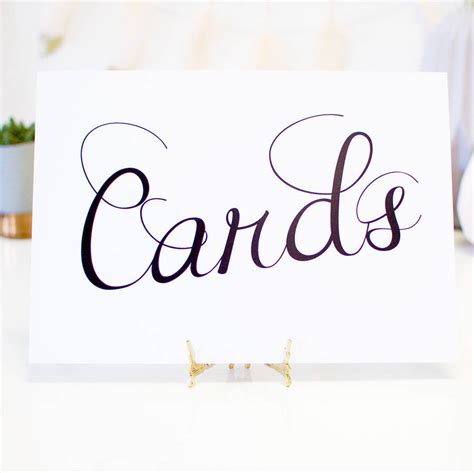 Wedding Card Sign by Cards Wedding Sign By Made With Designs Ltd