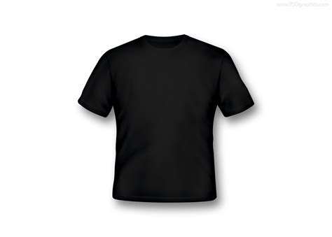 Blank T Shirts In Various Colors Psdgraphics Black Blank T Shirt Template