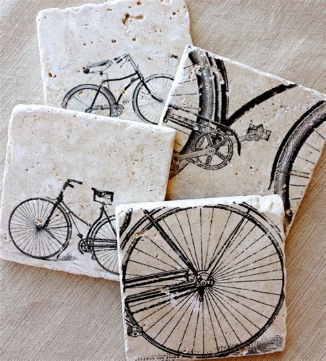 bike coasters bike gift bicycle bike bicycle decor