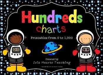 hundreds chart worksheets  charts  isla hearts teaching tpt
