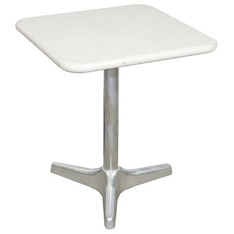 table top corian white granite w aluminum base 24