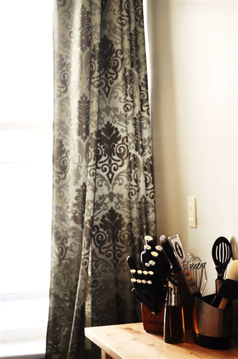 damask curtains black green damask curtains for home pinterest