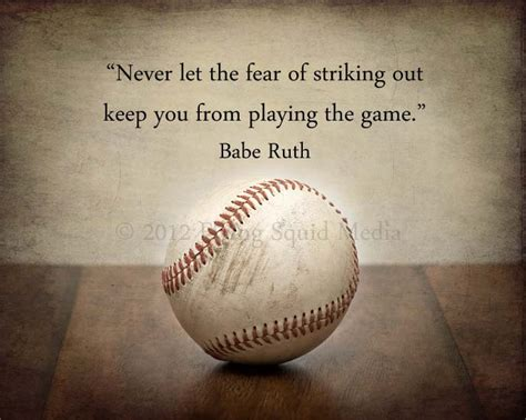 Baseball Art on Paper or Canvas: Never let the fear by ...