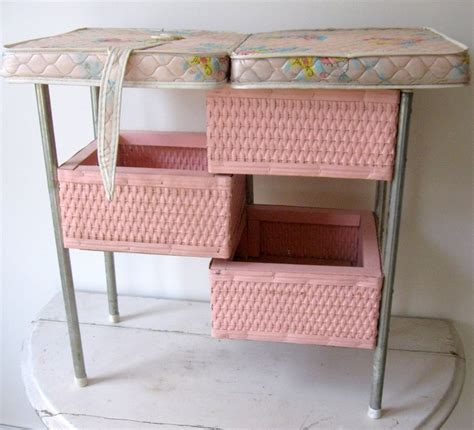 Vintage Changing Tables Vintage Pink Wicker Doll Changing Table My My Children And For