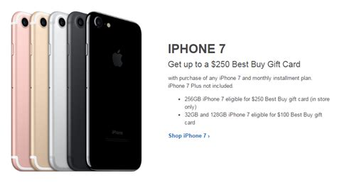 Best Buy Iphone 7 Gift Card - let the gifting begin buy an iphone 7 get up to a 250 gift card best buy