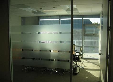 Screen Rooms For Cing by Frosted Adds Privacy To Offices Stripes Of Privacy