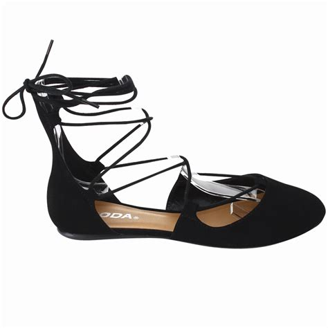 Cross Flats soda harvest womens criss cross lace up ankle tie