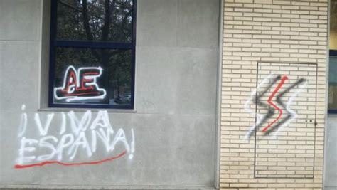 oficina extranjeria valencia aparecen pintadas de ultraderecha en una oficina de