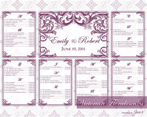 wedding seating chart template printable diy printable wedding seating chart template printable