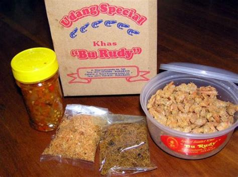 Makanan Snack Serba Pedas Sambal Bawang Bu Rudy Khas Surabaya paket sambal bawang dan udang kering picture of masakan