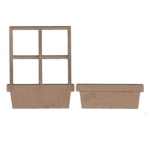 Window Box Frames Chipboard Embellishments Window Flower Box Frame