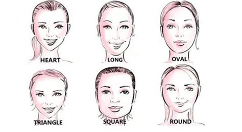 types of hair for types of faces what s the best makeup for your face shape