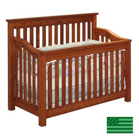 Usa Baby Cribs Maddon Convertible Baby Crib Made In Usa Solid Wood American Eco Furniture