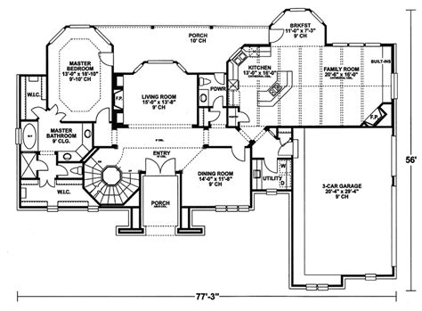 tudor house floor plans bolingbrook tudor style home plan 026d 0235 house plans and more