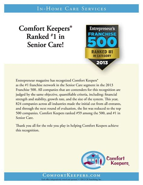 comfort keeper com comfort keepers ranked 1 in senior care senior care