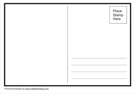 free blank postcard template for word postcard template craft ideas for