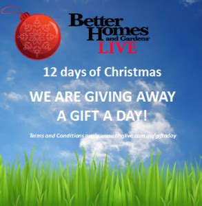 Bhg Giveaways - channel 7 better homes and gardens live win 12 day australian competitions
