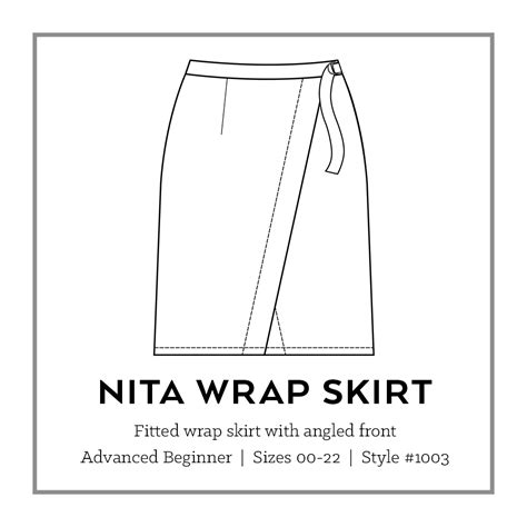 wrap skirt sewing pattern free patterns nita wrap skirt pdf pattern sew diy
