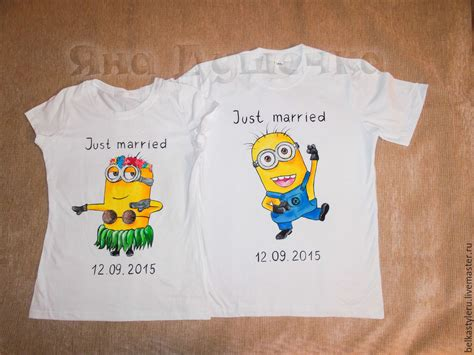 Handmade Shirts - buy t shirt painted minions on livemaster shop