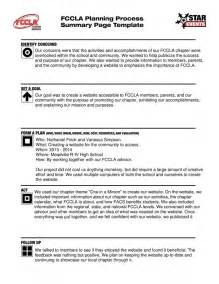 Fccla Planning Process Template by Events Documentation Meadville Fccla