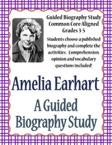 amelia earhart biography for students amelia earhart activities student and keys