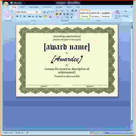 microsoft word certificate template 7 ms word certificate template bookletemplate org