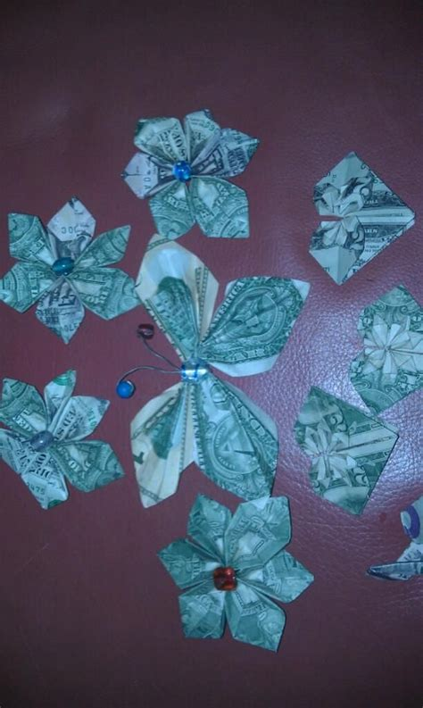 Money Tree Origami - origami money for money tree diy project ideas gifts