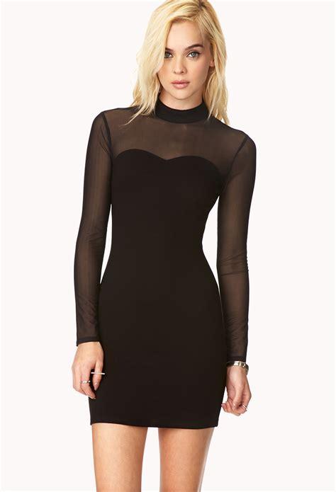 Dress Forever 21 lyst forever 21 posh high neck dress in black