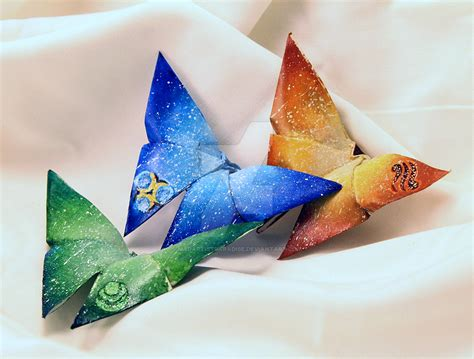 Origami Legend - origami butterfly marks of the goddesses by