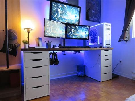 gaming desk setup best 25 gaming desk ideas on gaming computer