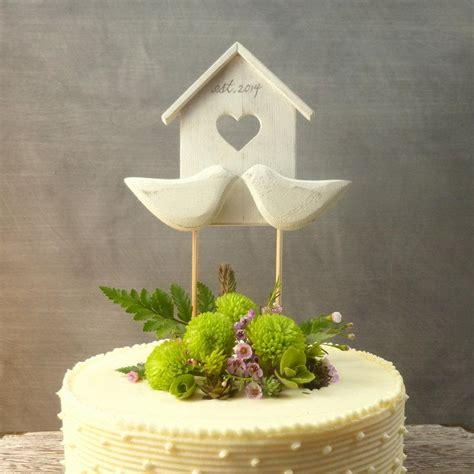 birdhouse topper wooden wedding decor cake