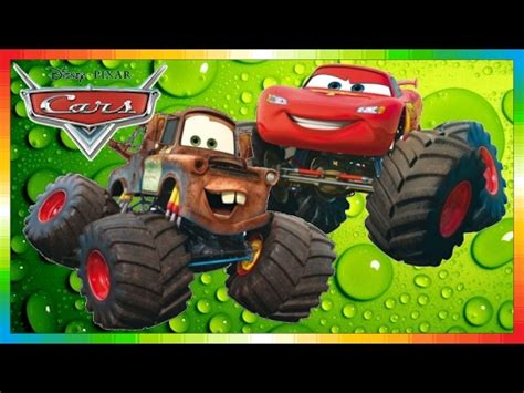 lightning mcqueen monster truck videos cars mater national chionship hook international