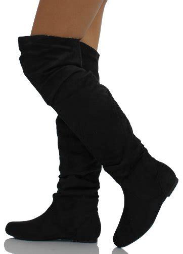 black knee high boots no heel black boots without heels no heels