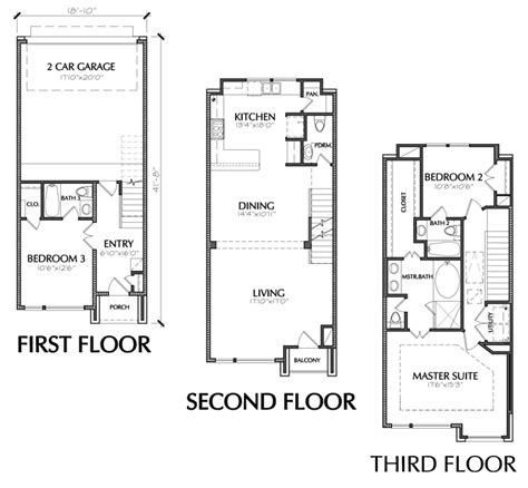floor plans for townhomes small townhouse floor plans for sale