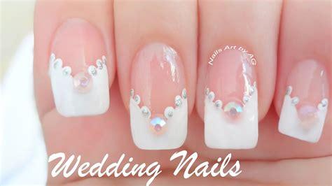 imagenes de uñas pintadas para novias decoraci 243 n de u 241 as para novias youtube