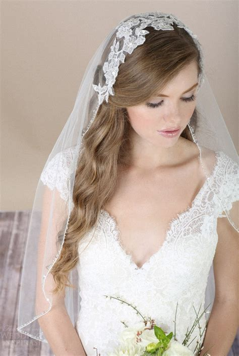 Wedding Hairstyles With Lace Veil by 57 Beautiful Wedding Hairstyles With Veil Wohh Wedding