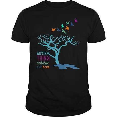 Think Outside The Box Shirt autism awareness think outside the box shirt hoodie