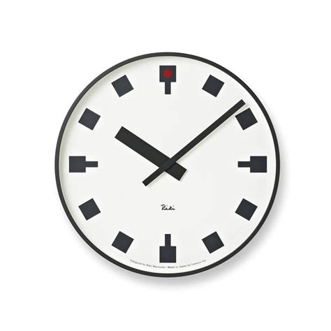 Design Clock by Japanese Railway Clock By Riki Watanabe Modern Wall